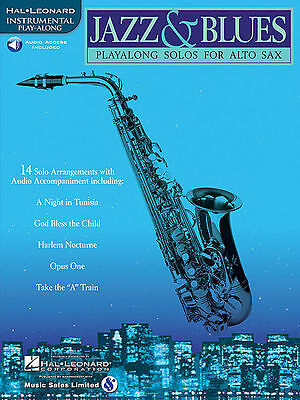 Jazz & Blues Alto Sax Solos Saxophone Play Along Song Book New