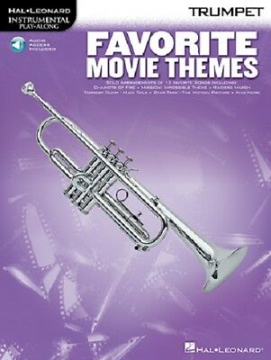 Favorite Movie Themes Trumpet Song Book + Cd New