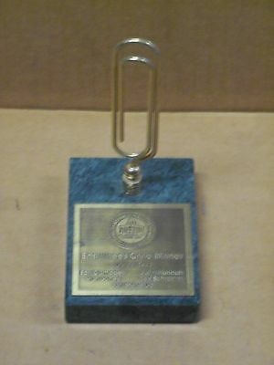July 26, 1991, Pro Football Hall of Fame, Enshrinees Civic Dinner, Paper Weight