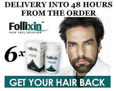 FOLLIXIN x6 NEW HAIR GROWTH RESTORATION HAIR LOSS TREATMENT SOLUTION STIMULATES