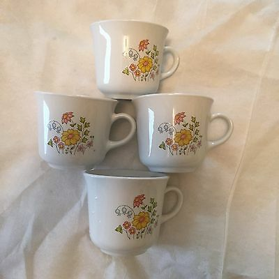 "Set of 4 Corelle ""Autumn Meadow"" coffee cups"