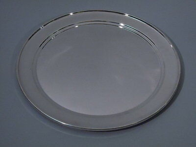 Vintage Tray - Round Circular Serving - American Sterling Silver - C 1950