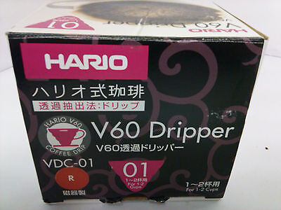 Hario VDC-01R V60 01 Ceramic Coffee Dripper, Red