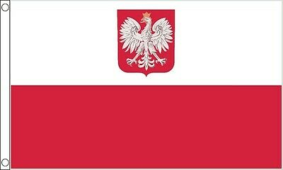 5ft x 3ft (150 x 90cm) Poland State Eagle Polish Hard Wearing QUALITY NYLON Flag