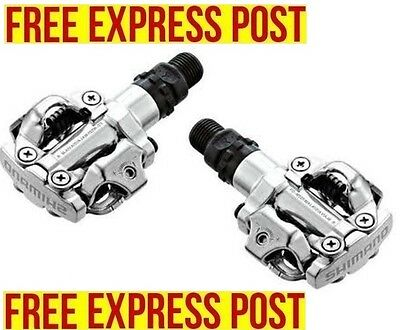 [S] Shimano M520 SILVER MTB XC Touring Cliples SPD Pedal NEW  - EXPRESS POST