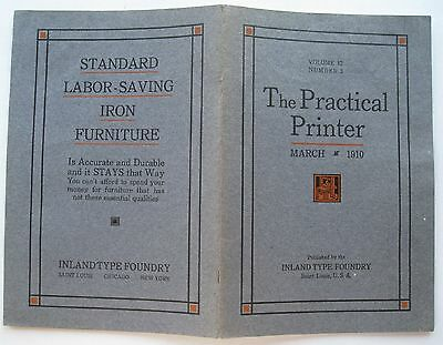 Booklet For The Practical Printer March 1910 Vol 12 Number 3