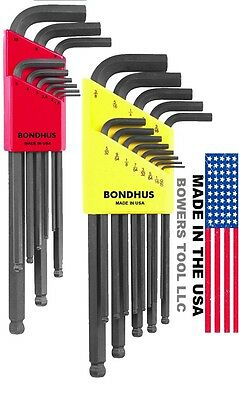Bondhus 22pc Ball End Hex L Wrench Set Metric SAE Inch MADE IN USA 20199