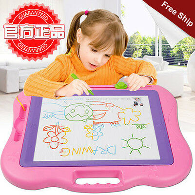 Colorful Kids Writting Drawing Board Plastic Big Size Educational Magnetic Board