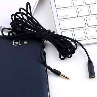 """10ft 3.5mm 1/8""""Stereo Audio Aux Headphone Cable Extension Cord Male to Female~1X"""