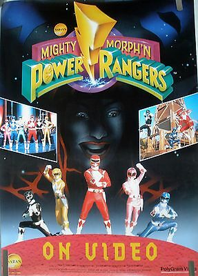 Rare Mighty Morph'n Power Rangers 1994 Vintage Original Now On Video Poster
