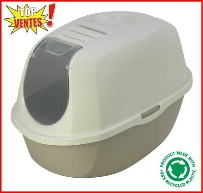 MAISON DE TOILETTE CHAT/BAC LITIERE CHAT avec FILTRE ANTI ODEUR AS97417FI-taupe