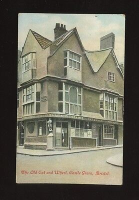 Glos Gloucestershire BRISTOL Castle Green Old Cat and Wheel Inn pre1919 PPC