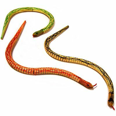 Wooden Swaying Snake Toy - Fun Pocket Money Toy - Assorted Colours - Gift Idea