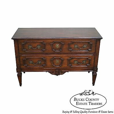 Custom Quality Vintage French Style 2 Drawer Low Chest