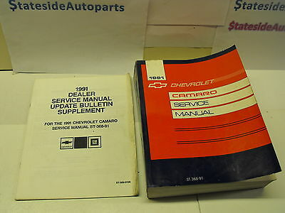 1991 CHEVY CHEVROLET CAMARO SS Z28 RS Service Shop Repair Manual Set FACTORY 91