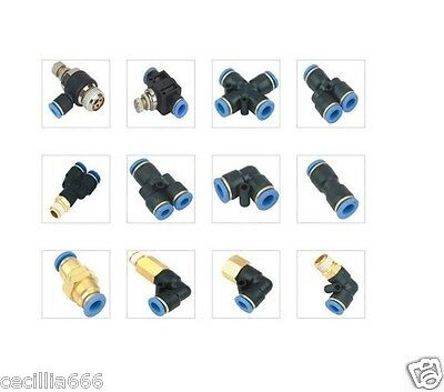 Pneumatic Push In Speed Joiner Connector *all Types And Sizes Available*