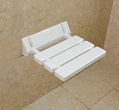 Excellent White Wall-mounted Drop-leaf Stool, Foldable Shower/Bath Seating Chair