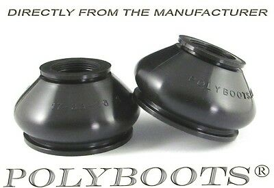 2x Polyboots Ball Joint Dust Boots 17x33x26mm Suspension Replacement Rubber Boot