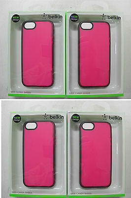 100 x QUALITY BELKIN Grip Candy Sheer Case iPhone 5 & iPhone5s F8W138qeC03 [F07]