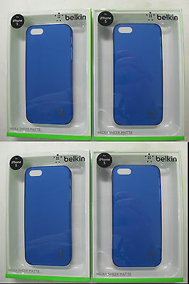100 x QUALITY BELKIN Indigo Micra Sheer Matte Case for iPhone  F8W095qeC03 [F07]