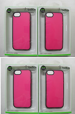 100 x QUALITY BELKIN Grip Candy Sheer Case iPhone 5 & iPhone5s F8W138qeC03 [07]