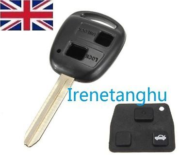 Elektronika samochodowa, GPS i zabezpieczenia Motoryzacja: Części Fits TOYOTA CAMRY CELICA COLORADO RAV4 PRIUS 2 BUTTON REMOTE KEY FOB CASE TOY43
