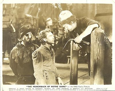 "THOMAS MITCHELL & EDMOND O'BRIEN in ""The Hunchback of Notre Dame"" Original 1939"