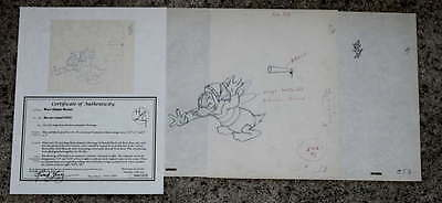 """original"":disney1951""bee On Guard""matching Animation Drawings Donald Duck+Buzz!"