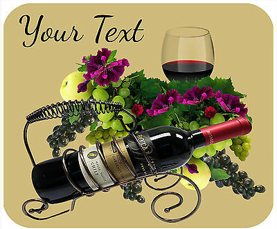 Mouse Pad Custom Personalized Thick Mousepad-Wine-Any Text Free