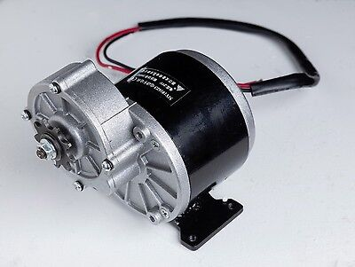 350 Watt 24 Volt electric motor f bicycle bike gokart MY ZY1016z3 gear reduction