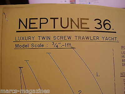 A Model Boat Plan Neptune Trawler On 8 Sheets X  A3 Paper
