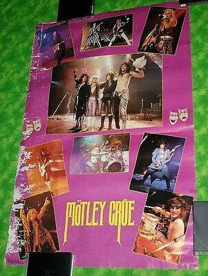 VINTAGE 1986 Motley Crue Theatre of Pain Live On Stage Poster