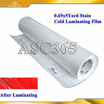 Brand New Satin Style Cold Laminating Film For Cold Laminator 0.69x5Yard UV Film