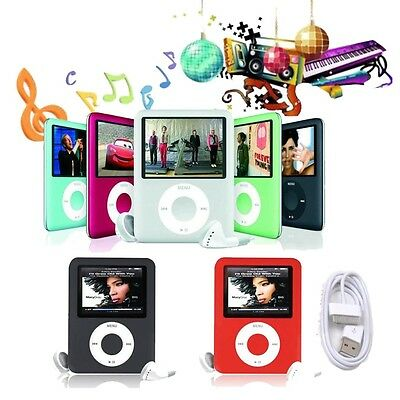 8GB Slim MP3 1.8'' LCD Media Video Movie FM Radio MP4 Player & Charger Earphone