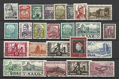 GERMANY SAAR STAMP COLLECTION & PACKET of 25 DIFFERENT Stamps Used