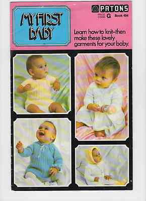Knitting Pattern For Baby Knitting Outfit By Patons 3.4.ply Boy And Girl