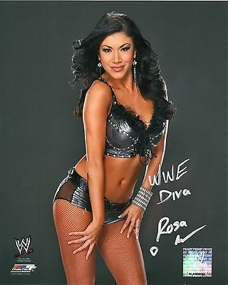 Wwe Signed Photo Rosa Mendes Wrestling Promo With Proof & Coa Total Divas