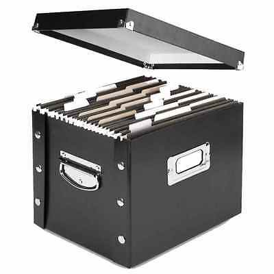 Letter Size File Box Organizer Folder Container Carrying Labeling Office Desktop