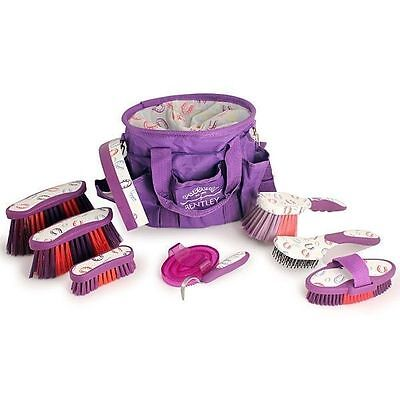 Bentley Horse Shoe Patterns Full Complete Horse Grooming Kit In Carry Bag