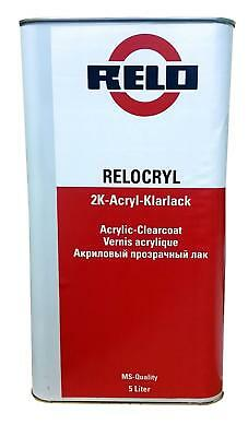 Quality Relo MS Scratch Resistant Clearcoat Gloss Car Lacquer 5 Litre