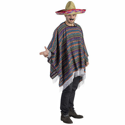 Dress Up America Adult Mexican Poncho Costume