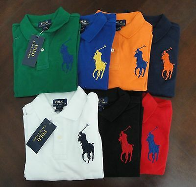 NWT Ralph Lauren Toddler Boys LS Big Pony Solid Mesh Polo Shirt Sz 2t 3t 4t NEW