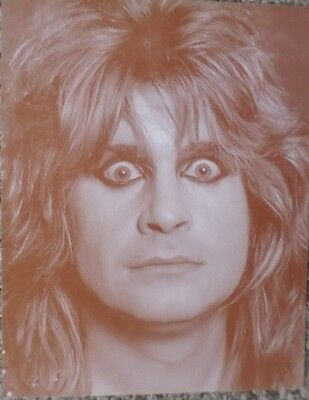 Ozzy Osbourne Facial Close Up Sepia Poster