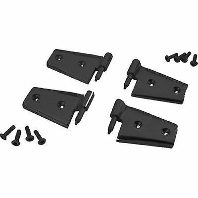 Rampage 87641 Black Door Hinges Black Set of 4 fits 07-10 Wrangler JK 2-DR/4-DR