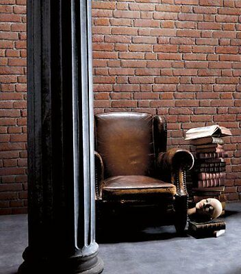 Galerie Red Brick Natural Textured Muriva Feature Designer Wallpaper J30108 New