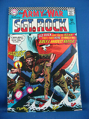 Our Army At War Sgt Rock 173  Nm- 1966 High Grade