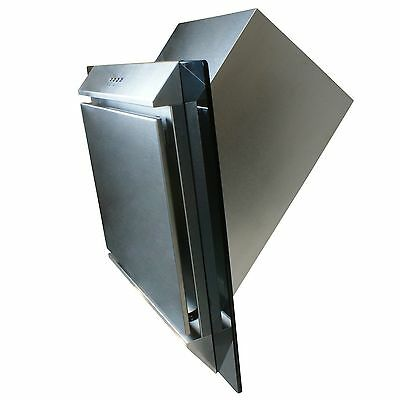 ElectriQ 60cm Stainless Steel Angled Glass Chimney Cooker Hood Extractor