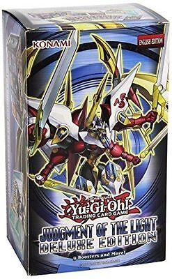 Yugioh Judgment of the Light Deluxe Edition box Factory Sealed 9 booster