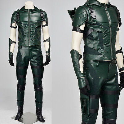 2016 Green Arrow Season 4 Oliver Queen Outfit Cosplay Costume Halloween Clothing
