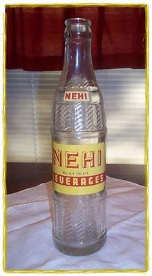 Vintage 1950's NEHI Collectible Duraglas Soda Bottle